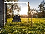 Beauty.Scouts Nest-Anbauschaukel Rika IV Nestschaukel Hemlock Holz braun weiß 160x244x207cm...