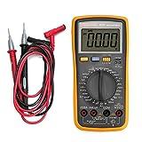 BEVANNJJ ZYY Multímetro Digital, DT87 6000 Cuentas de AC/DC voltios amperios Ohm Capacitancia Frecuencia Ciclo de Prueba de diodos Medidas probador de Voltaje, Corriente, Resistencia