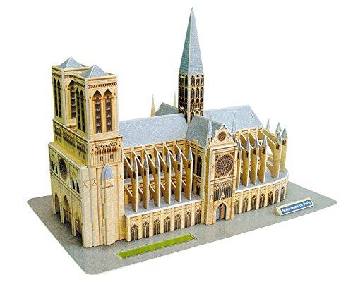 Quebra-cabeça 3d Notre Dame 128 peças - Brinquedos Chocolate