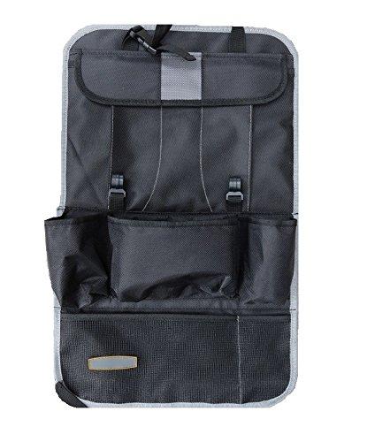 Car Seat Back Organisers - EssVita Extra Large Multi Pocket Storage iPad, Snacks, Cans - Multipurpose Baby Stroller Organizer Auto Seat Back Protector (Gray)