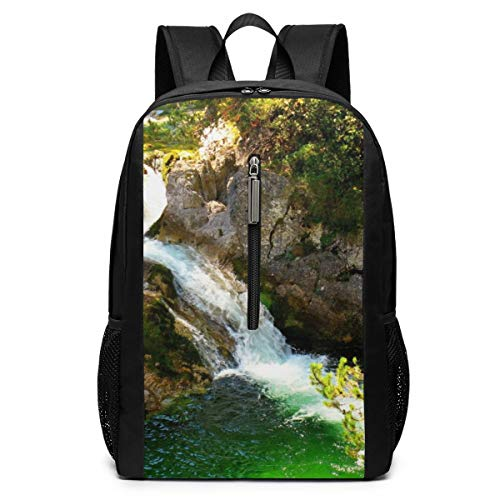 Waterfalls Australia Parks Great Otway Nature Business Mochila resistente para portátil de 17 pulgadas, mochila casual