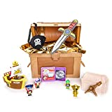 RYAN'S WORLD Cap'n Ryan's Micro Mystery Treasure Chest, All-New Surprises, Micro Figures, Micro Pirate Ship, Putty, Micro Dig 'n Discover, Pirate Gear So Kids Can Be Just Like Cap'n Ryan, Kids Toy