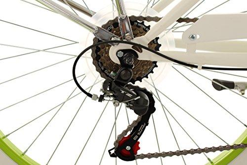"KS Cycling Beachcruiser 26"" Bellefleur weiß-grün RH40cm - 3"