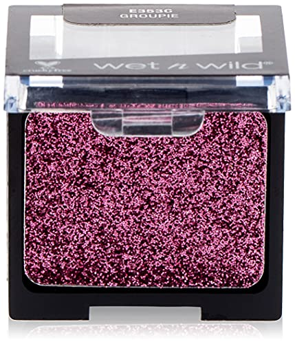 Wet n wild - COLOR ICON EYESHADOW GLITTER SINGLE - Ombre à paupières - Texture soyeuse - Teinte groupie - Made in US - Cruelty Free - Produit Vegan