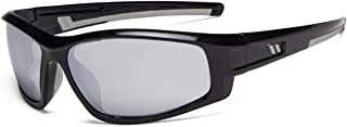 Eyekepper Bifocal Sunglasses for Sports TR90 Outdoor Sunshine Readers (Black Frame - Silver Mirror Lens, 1.00)