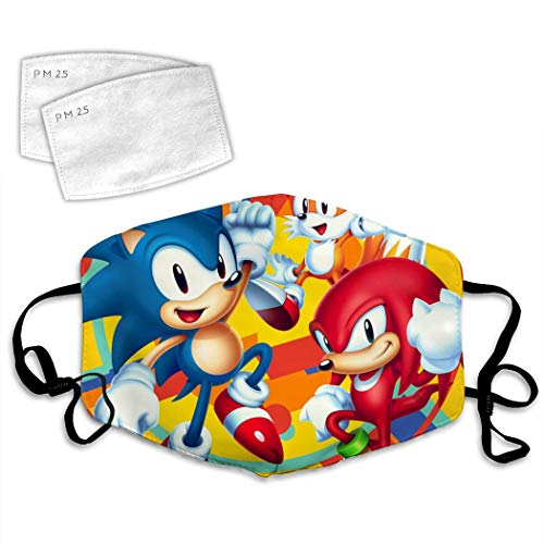 3D The Best S-onic the H-edgehog Anti-Dust Windproof Cover Comfortable Facial Decorations Adjustable Elastic Strap