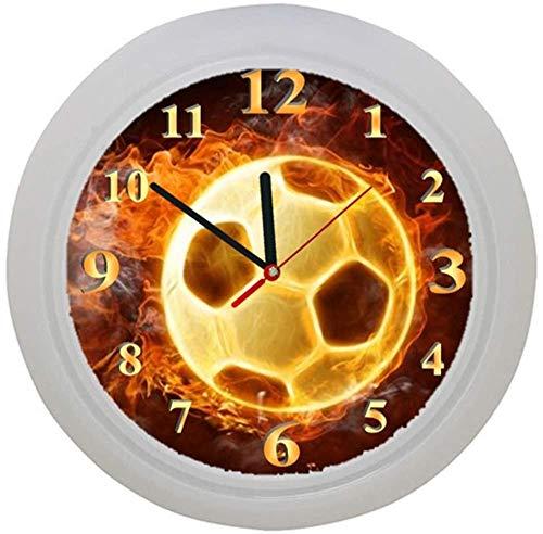 ✿ Kinderwanduhr in 4 Farben ✿ FUSSBALL football FUßBALL 7 Verein ✿ Wanduhr ✿ Kinderuhr ✿ KEIN TICKEN ✿ mit/ohne Name