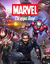 Marvel Coloring Book: All Heroes , Ages 3-10 , Deadpool , Spider Man , Ant Man, Doctor Strange, Hulk , Captain Marvel , Iron Man And Other