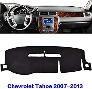 JIAKANUO Auto Car Dashboard Dash Board Cover Mat Fit for Chevrolet Tahoe 2007-2013(Black) MR024