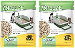 Replacement kitty litter pellets for Tidy Cats Breeze Litter Box System Works with the litter box system to separate solid and liquid waste for superior odor control Non-tracking, long lasting cat litter pellets Super low dust formula keeps pets happ...