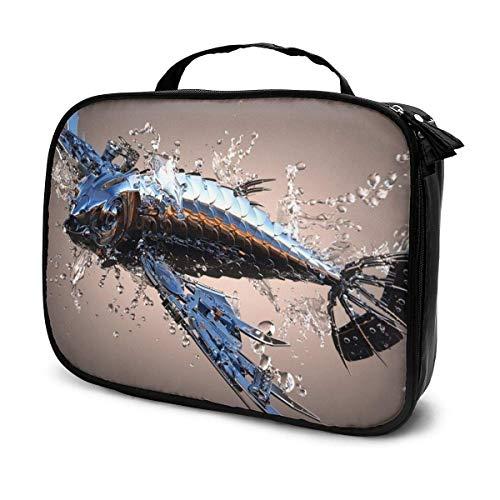 Ferric Fish Tacos - Bolsa de aseo de vino de gran capacidad, bolsa de cosméticos portátil, bolsa de maquillaje, impermeable, organizador de viaje, bolsa de almacenamiento para mujeres y niñas