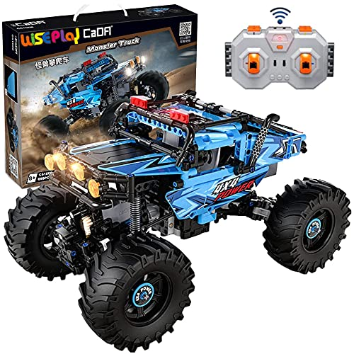 Build Your Own RC Car Kit   4x4 Off Road Technic Monster Truck Crawler Toy Model 2021   699 Pieces Extreme Off Roader STEM Building Toy Set for Adults and 10+ Year-Old Boys & Girls