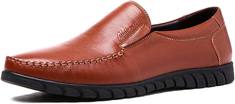bad5ed78045d LXLA- LXLA- LXLA- Mens Round Head Slip-On Loafers Men's Comfortable ...