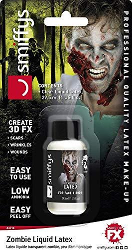 Smiffys Unisex Zombie Latex Make-Up, 29ml, Weiß, 44714