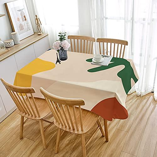 MRBJC Mantel rectangular nórdico – Morandi elegante impermeable de poliéster para mesas de fiestas, manteles para mesa de comedor, 110 x 110 cm