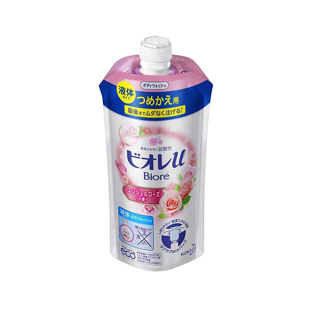安定補う革命的花王 ビオレu エンジェルローズの香りつめかえ用 340ML