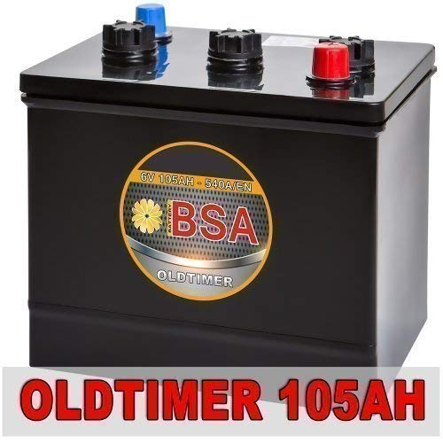 Preisvergleich Produktbild BSA 6V 105Ah Oldtimer Batterie Autobatterie für Oldtimer 6 Volt ersetzt 84Ah 96Ah 102Ah