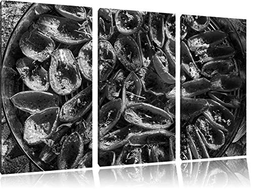 LLJFHRH New Sun-Dried Tomatoes with Olive Oil and Basil Herbs Art B & W 3-Piece Canvas Picture 50Cmx90Cm Image on Canvas