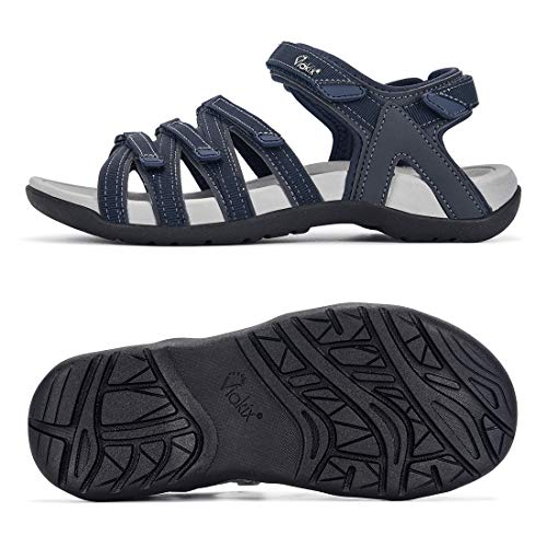 Viakix Womens Hiking Sandal – Comfortable Athletic Stylish Sport Shoes, with Arch Support, for Hiking, Outdoors, Walking, Water, Trekking