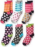 Jefferies Socks Socken für kleine Mädchen mit Punkten, Herzen, Streifen, modisch, 6 Paar - mehrfarbig - X-Small