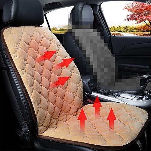 NoNo autostoelbekleding auto 24 V voorstoelverwarming kussen-warmte-afdekking winter verwarmd warm, geschikt voor autostoelen beige