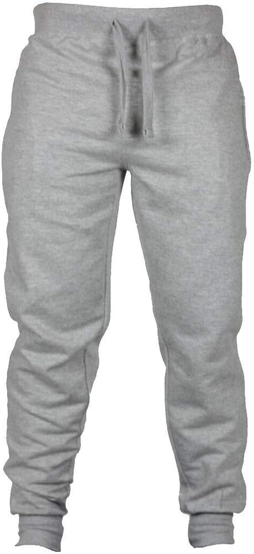 Mens Joggers Solid color Casual Sweatpants Active Elastic Waist Trousers