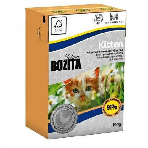 16 x Bozita Cat Tetra Recard Kitten 190g, Trockenfutter, Katzenfutter