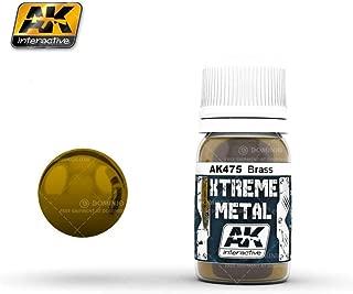 AK Interactive Xtreme Metal Brass Metallic Paint 30ml Bottle Model Kit Paint Car Plane