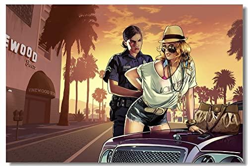 Puzzle 1000 pezzi Pittura decorativa per videogiochi Grand Theft Auto V puzzle 1000 pezzi Puzzle educativi intellettuali decompressivi giocattolo divertente gioco per famiglie50x75cm(20x30inch)