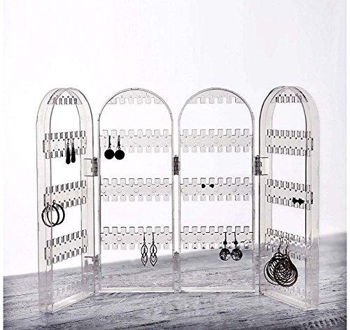 Paravent Ohrringhalter Acryl transparent Ohrringständer Ohrring Halter Aufbewahrung Ständer Ohrstecker Organizer Display