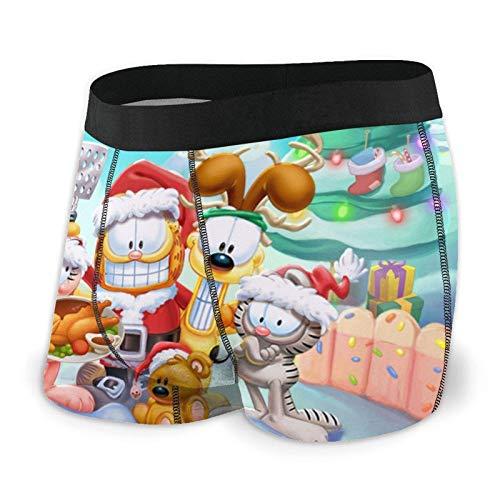 DWEO0JDWK Christmas Garfield Herren Cotton Boxershorts 2 Pack-XX-Large Black