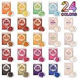 DEWEL 240g Naturale Pigmenti Coloranti, Mica Powder 10g*24 Colori Mica Polvere Colorante P...