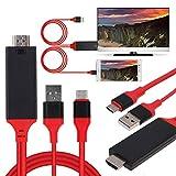Cable de TV MHL USB 3.1 tipo C a HDMI 1080P HD compatible con Samsung Galaxy S8 9 MacBook Pro de Dragon Trading