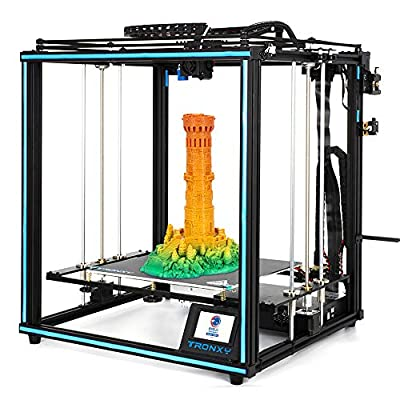 TRONXY X5SA 3D Printer Metal Square CoreXY Structure Dual Z Axis Stable Large Printing Size 330 * 330 * 400mm DIY Kit with Auto Leveling Filament Sensor Resume Print For Industrial Home Education