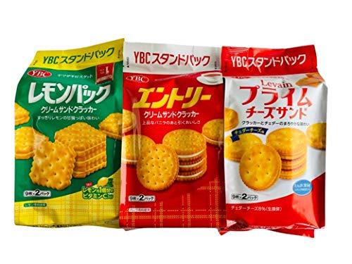 YBC スタンドパッククリーム&チーズクラッカー3種セット (ルヴァンプライムチーズサンド、レモンパック 、エントリー)