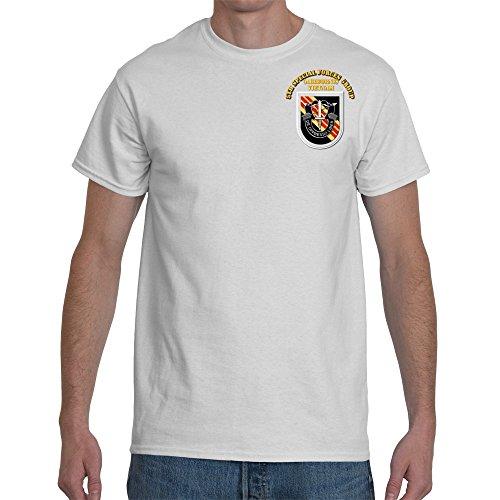 2XLARGE - SOF - 5th SFG Flash Vietnam Veteran War with text Final Gildan-White