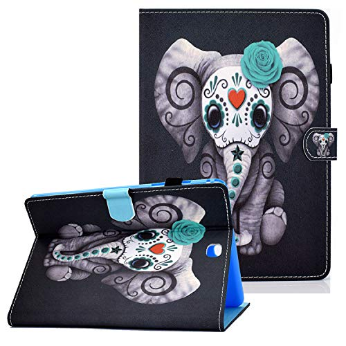 Coopts Galaxy Tab A 9.7 Cases and Covers for SM-T550/SM-P550, Colorful PU Leather Magnetic Cover with Multi-Angle Viewing Stand Shockproof Sleeve for Samsung Galaxy Tab A 9.7 inch 2015, An Elephant