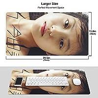 今田美桜 可愛い女の子 マウスパッド 光学マウス対応 パソコン 周辺機器 超大型 防水 洗える 滑り止め 高級感 耐久性が良い 40*75cm