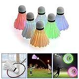 ROOYA BABY LED Badminton Federball,4er Federbälle leuchtende Badmintonbälle für Outdoor Indoor Sportsaktivitäten