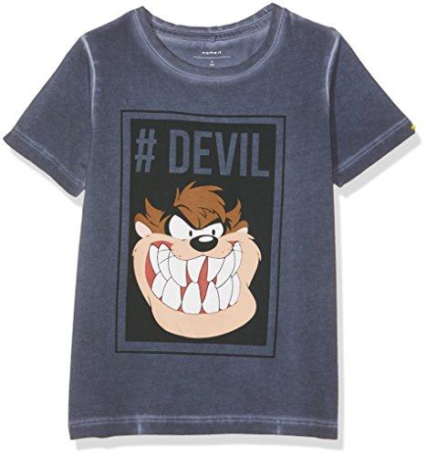 NAME IT Nitlooney Taz SS Top Nmt Wab Camiseta, Azul (Vintage Indigo Vintage Indigo), 122 para Niñas
