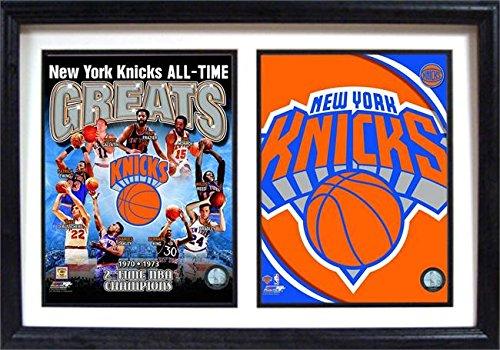 "NBA New York Knicks Greats 12"" x 18"" Double Frame image"
