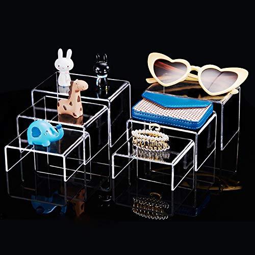 PERFETSELL 6 Stück Display Ständer Acryl Transparent Acrylständer Dekobrücken Acryl Warenträger Präsentationsständer U-Ständer in 3 Größen für Vasen/Figuren Schmuck in Vitrine/Schaufenster Ausstellung