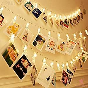 Photo clip String light has 10Pcs clips.In each clip there is an LED lamp beads, which is not easy to fall off. They emit comfortable warm white light, which is very warm and romantic in home decoration, commercial decoration and wedding decoration.B...