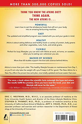 New Atkins for a New You: The Ultimate Diet for Shedding Weight and Feeling Great. 3