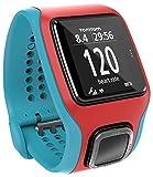 TomTom Runner Cardio - Reloj GPS para Correr, Color Rojo y Turquesa