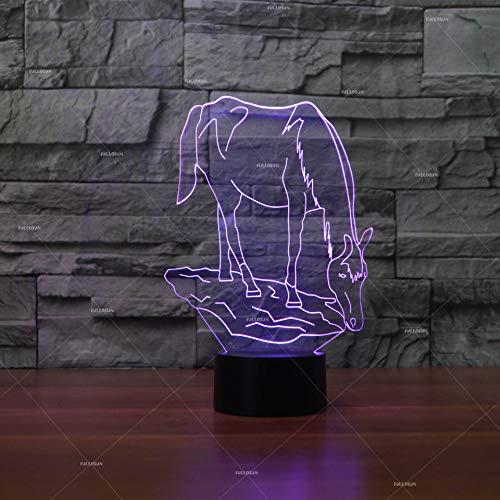 Pferd 3D Nachtlicht Tischlampe Nachttisch Dekoration Geschenk Kreative 3D Tischlampe Grenzüberschreitendes Trinkwasser Kinderzimmer Led Nachtlicht Licht