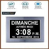 IFIRE 8' LCD Horloge Numérique Calendrier avec Date, Jour Et Heure | Horloge...