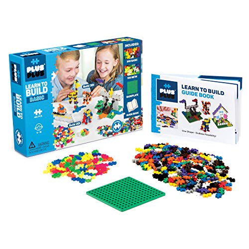 Plus-Plus - Learn to Build Basic Color Mix, 400 Piece - Construction Building STEM | STEAM Toy, Interlocking Mini Puzzle Blocks for Kids