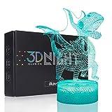 Ikavis Dragon 3D Light, Optical Illusion Lighting Dragon Table Lamp with 7 Colors and Touch Sensor, Dragon Gift for Kids, Boys and Girls
