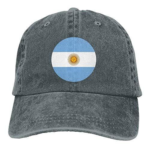 Wdskbg Argentina Falg Circle Gorras de béisbol Ajustables Sombreros de Mezclilla Deporte Exterior Multicolor95
